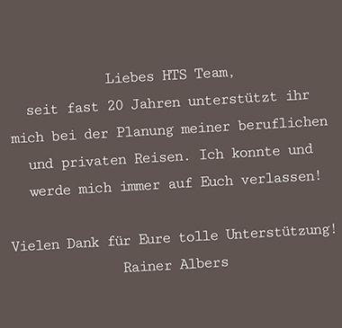 Rainer A.                     20 Jahre HTS Treue